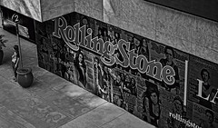 Like A Rolling Stone (cstout21) Tags: california ca travel chris 2 vacation two blackandwhite music plants usa mall shopping us downtown unitedstates ad pillar landmark smoking advertisement sidewalk highland hollywood westcoast hdr highdynamicrange rollingstone stout ngoc rollingstonemagazine blackwhitephotos canonxs hollywoodhighlandmall stoutandstout northamera
