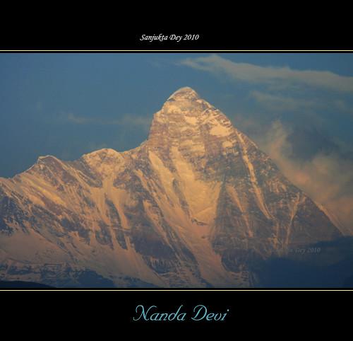 Last Light on the West Face of Nanda Devi Main Peak, Garhwal, Uttarakhand, India - 24.05.10