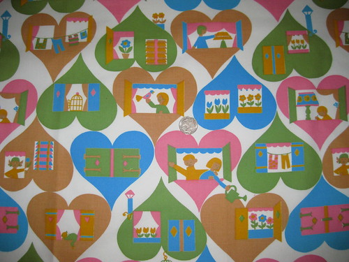 60's vintage fabric unused off the bolt