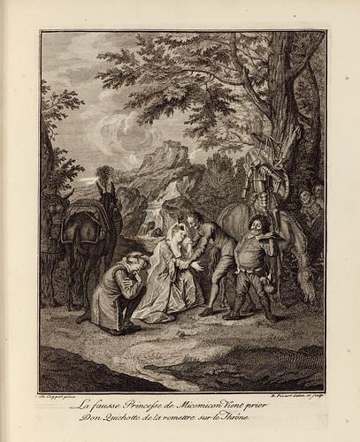 002- La falsa princesa de Micomicon rogandole a Don Quijote le ayude a recuperar el trono-1746