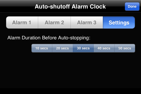 iPhone Shabbos Clock