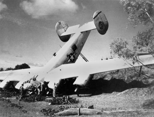 Crash of Troop Carrier U.S. Liberator