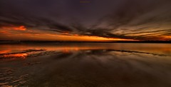 Dark Matanzas Sunset (JamesWatkins) Tags: ocean sunset seascape art evening poetry surf sundown florida piers digitalart wideangle atlantic writers beaches wa poems atlanticocean soe hdr beautifulclouds tides poets nightfall highiso waterways matanzas surfside d300 matanzasinlet beachscape sigma1020mm beautifulwater creativewriting floridabeaches inlandwaterway smoothwater inlets tonemapping oceanscape beautifulsunsets staugustinefl subtlehdr colorfulsunsets alittlehdr the4elements poetryandphotos abigfave jameswatkins photosandpoems theunforgettablepictures colourartaward grouptripod minimilsthdr wonderworldgallery