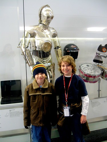 D and J with C3PO