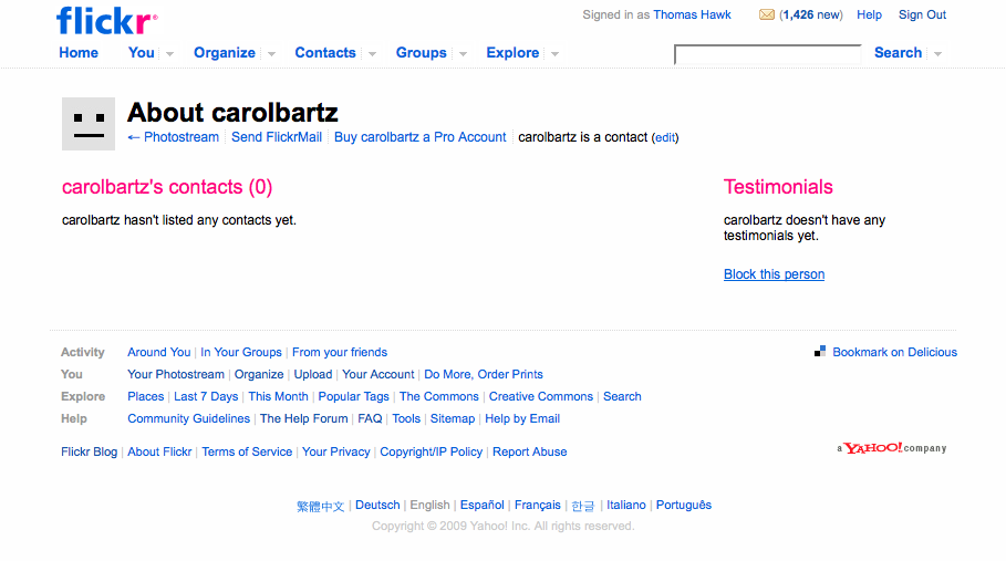 Why Isn't Carol Bartz, Yahoo's New CEO, on Flickr?