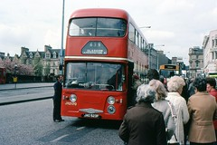 Queue (georgeupstairs) Tags: bus scotland 1982 queue western alexander paisley doubledecker daimler fleetline 2170 westernsmt crg6 jag523f jr2170