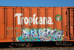 Much HM (huntingtherare) Tags: orange classic port train boxcar hm freight tropicana reefer mber pgr mirg babyridged