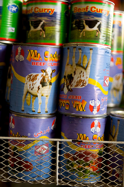Tinned beef curry at Mae Hong Son's market