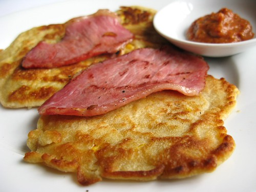Corn cakes and ham from Sapa Rooms Boutique Hotel