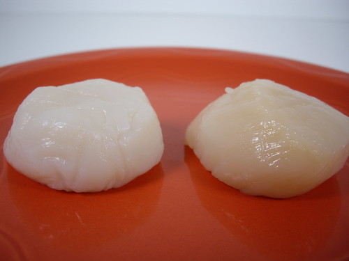 Side by Side Comparison of Dayboat and IQF Scallops