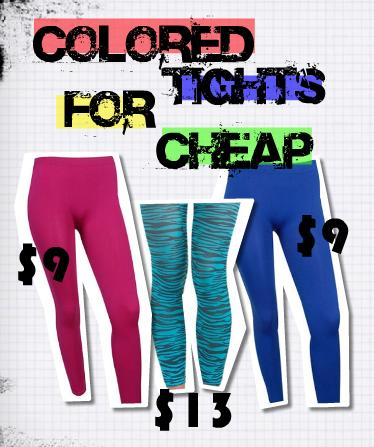 colored tights for cheap
