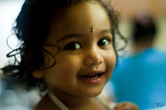 Smile :)) (~Thiagu~) Tags: cute beautiful smile children 50mm dallas kid nikon texas child bokeh irving d90 akshaya thiagu nikond90 thiagu007 ~thiagu~