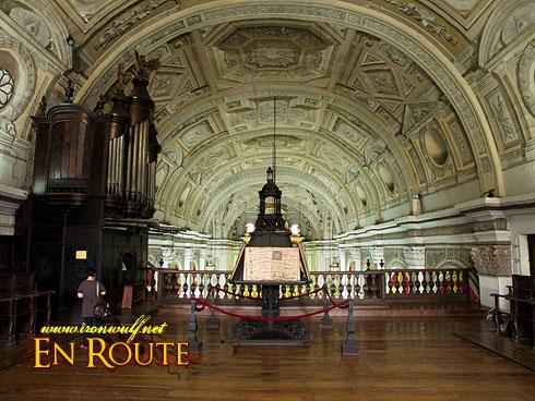 San Agustin Church Magnificent Ceiling and Bamboo Organ
