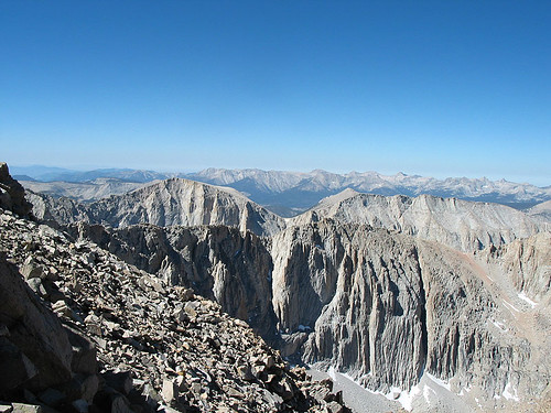 View across Sierra Peak tops
