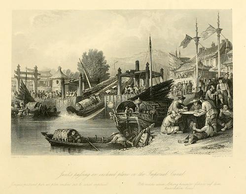 031-Juncos pasando por un plano inclinado en el canal imperial
