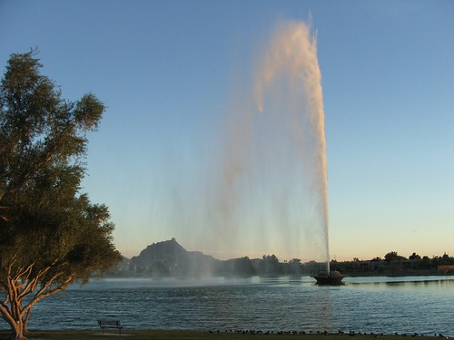 The Fountain at Fountain Hills Park at Sunset