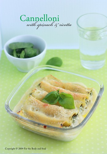 Spinach and Ricotta Cannelloni 4284
