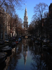 Amsterdam channel (BB33FR) Tags: street city blue sky sun reflection church water beautiful amsterdam nice europe thenetherlands reflexions paysbas channel photographyrocks aplusphoto flickrestrellas bb33fr reflectsobsessions luckyorgood expressyourselfaward