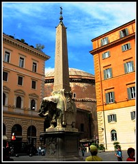 Roman Square, Bernini's Elephant, Rome, Italy, Roma (moonjazz) Tags: italy sculpture elephant rome roma history square ancient europe italia vivid sunny tourist obelisk tribute piazza bernini antiquity pedestal 5photosaday theunforgettablepictures