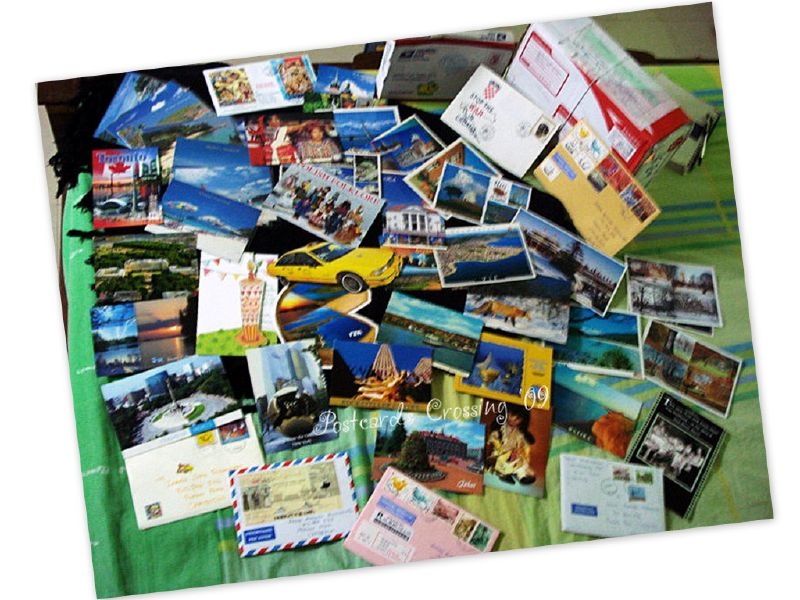 a truckload of postcards