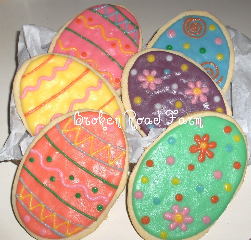 Giant Easter Egg Cookies