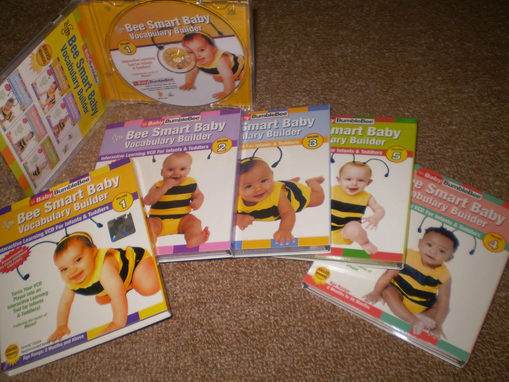 Baby BumbleBee: Bee Smart Baby - Vocabulary Builder Vol. 1-5 VCDs (SET)