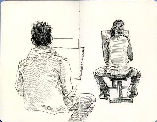 life drawing students