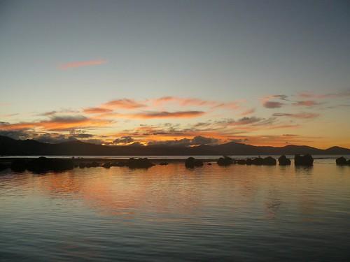 Coucher de soleil à Tibarama