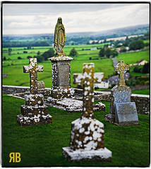 Endings & Beginnings (Ryan Brenizer) Tags: ireland vacation graveyard nikon september 2008 70200mmf28gvr d700 ryansstrangelenses bokehpanorama brenizermethod