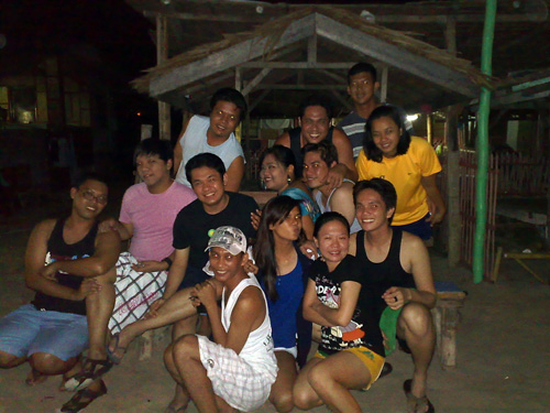 Eric and friends during their Batangas summer outing