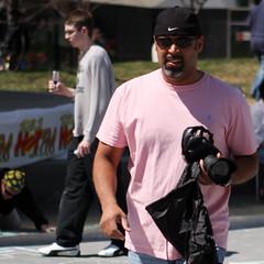 Pretty in Pink (Rudy Malmquist) Tags: pink shirt circle jones chalk downtown flood very michigan parks rosa grand rapids sidewalk chuck iam ithink notavailableinmens confidentinhismanhood youwishyoucouldpullitoff ididntknowchuckreadsmytags