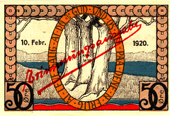 Augustenburg, 50 pf, 1920 (version 2) (Iliazd) Tags: germany inflation notgeld papermoney germancurrency plebiscit emergencymoney 19171923 germanpapermoney