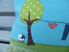 washingline - detail (monaw2008) Tags: tree quilt handmade pillow clothesline patchwork applique cushion washingline monaw monaw2008