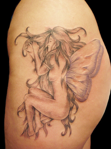 sexy side tattoos. Fairy tattoo of ass sexy side