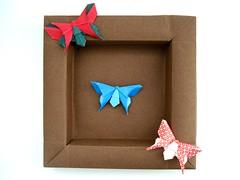 três borboletas
