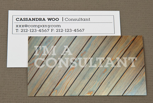 Home Maintenance Business Card with Weathered Wood