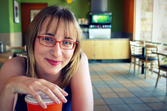 Christina (WonderRob) Tags: chris nerd girl glasses panda christina express pearce chrispearce robdominguez christinapearce