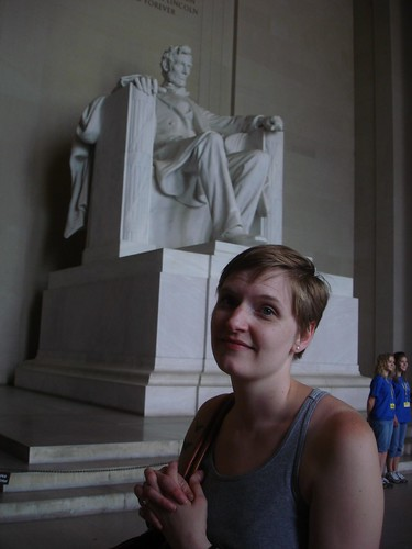Erica and the Lincoln Memorial