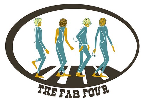 THE FAB FOUR merged