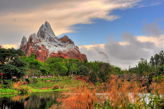 Expedition Everest 2009 - HDR Style (Kristopher Michael) Tags: sky mountain expedition animal skyline clouds orlando