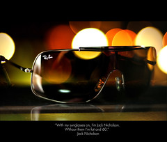 DAY TWENTY THREE (architer) Tags: sunglasses jack 50mm lights nikon bokeh 23 365 nicholson 18 rayban cls d300 sb800 strobist bokehistan