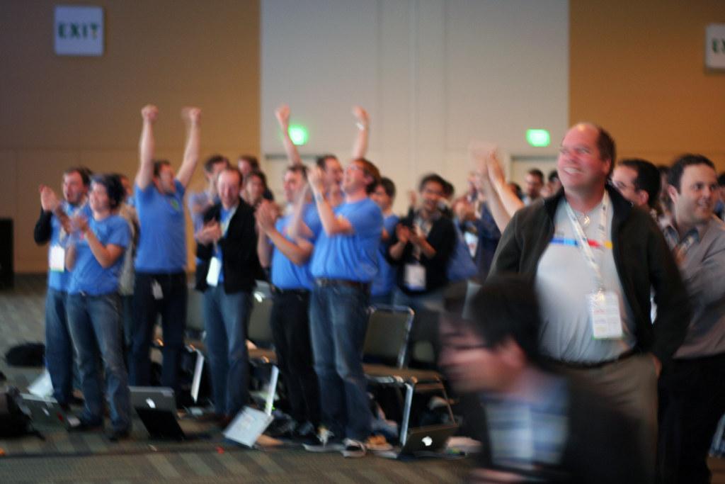 Google Wave team celebrates