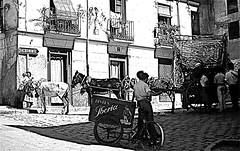 Granada 1960 - The Road to Sacro Monte (ronramstew) Tags: road summer mountain bike bicycle wagon spain camino slide andalucia caves granada balconies cave cart andalusia slides iberia espagna 1960 sacromonte trader cavedwellings gitanos gipsies lespagne