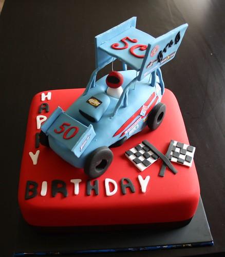 Sprint car cake