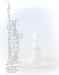 Lady Liberty Ascii Art