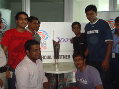 Posing with the ICC World Twenty20 Trophy