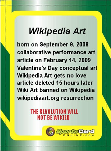 baseball cards 2009. wikipedia art aseball card