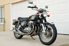 1974 Honda CB750 K4 (themikepark) Tags: black bike honda four cycle motorcycle cb superbike cb750 750 sohc sevenfifty