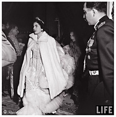 The Bride Arrival To The Marble Palace (B) - Febryary 1951 (Tulipe Noire) Tags: wedding bride iran royal persia 1950s empress tehran reza mohamed 1951 shah soraia pahlavi
