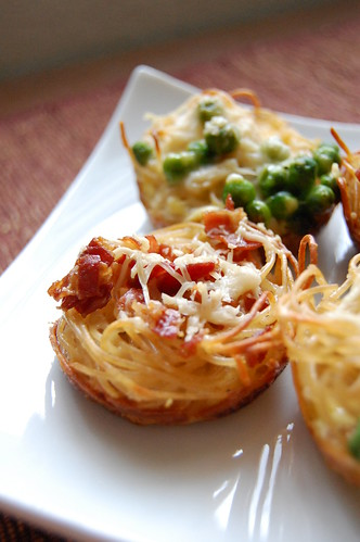 Spaghettini Carbonara Tartlets